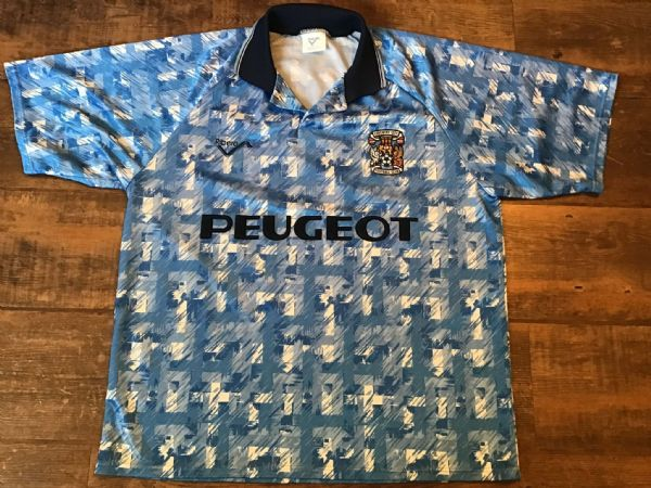 1992 1994 Coventry City Home Football Shirt Large